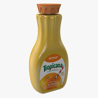 3d tropicana orange juice bottle