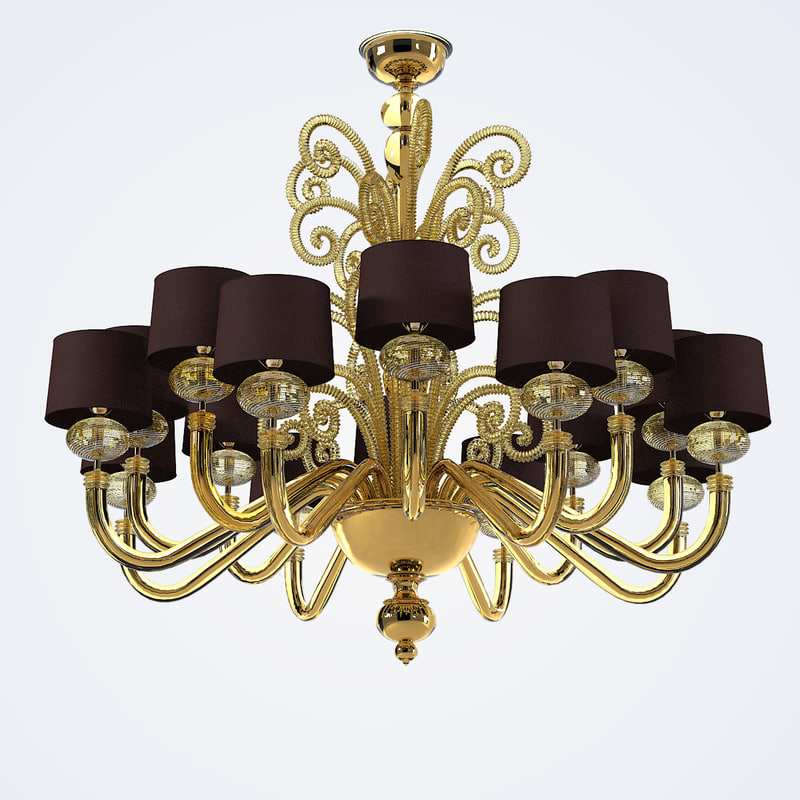 toso tangeri chandelier barovier 3d model