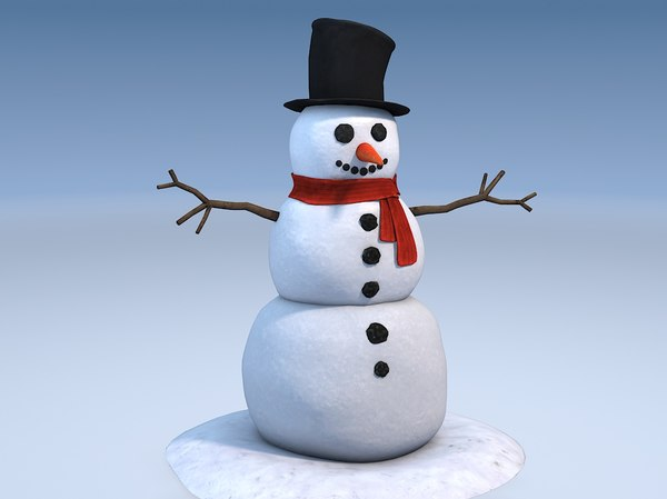 3ds man snowman snow