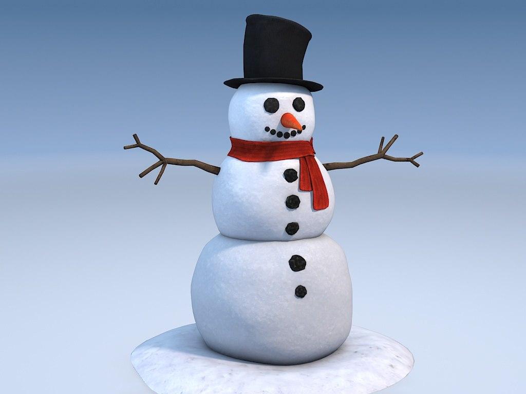 3ds man snowman snow