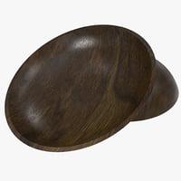 walnut salad bowl 3d 3ds
