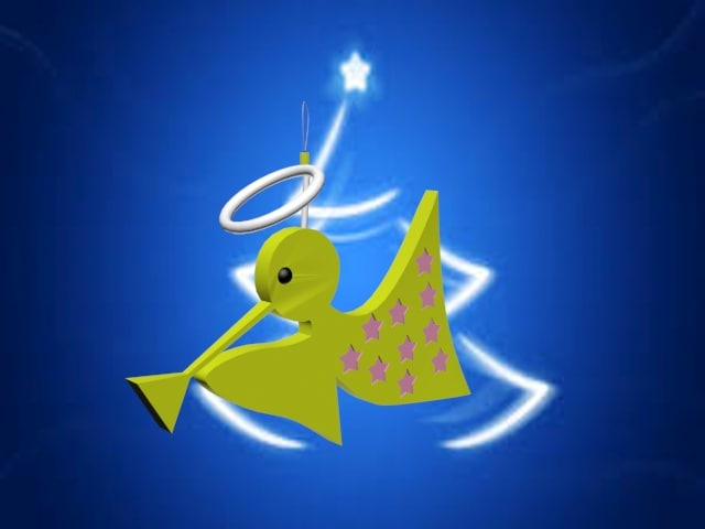 angel ornament 3d max