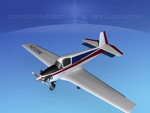 built mooney m-18 mite 3d model