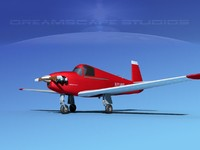 3d built mooney m-18 mite