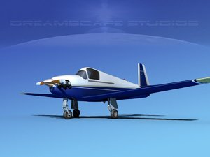 built mooney m-18 mite 3d max