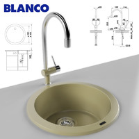 3d model kitchen sink blanco