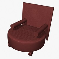 leather chair 3d max