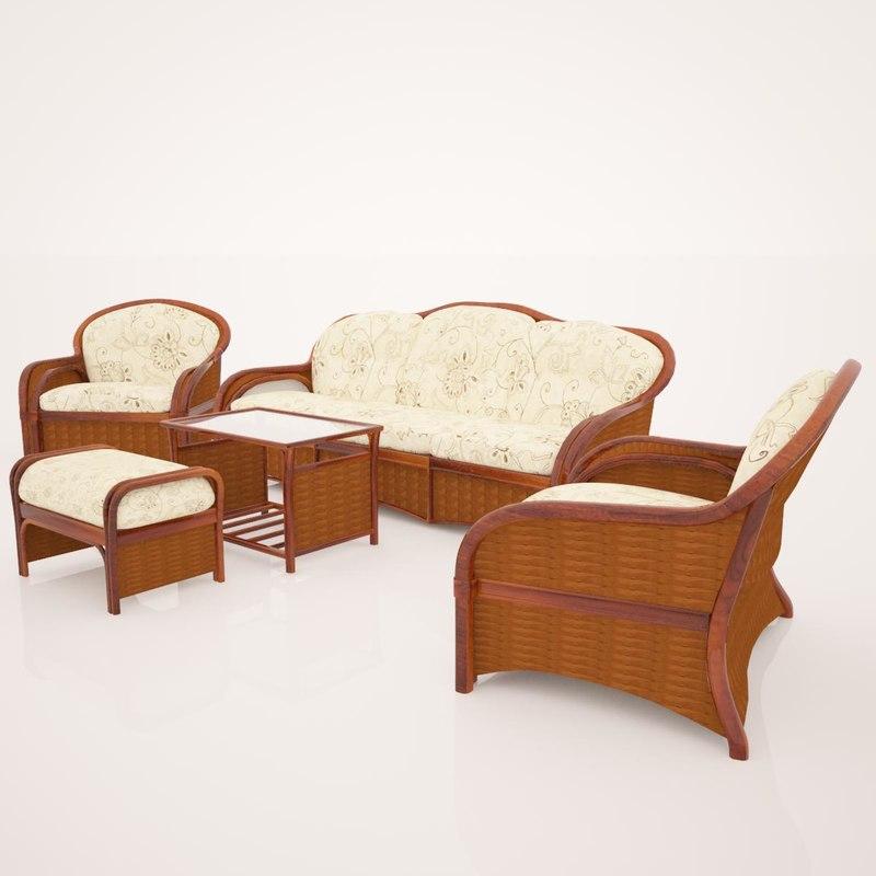 3d upholstered furniture model