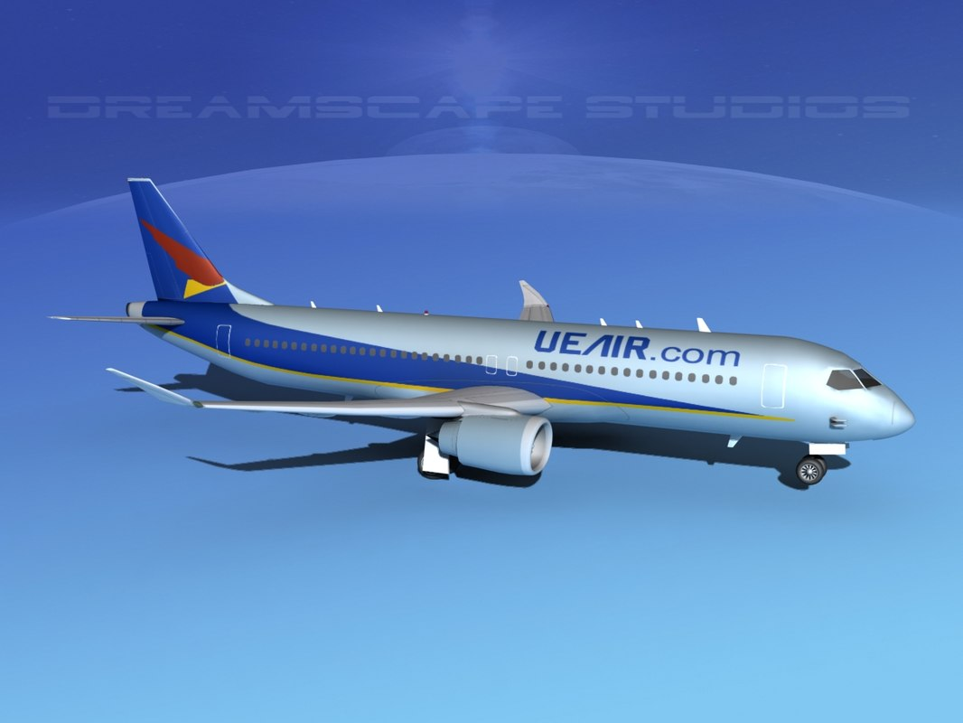 comac airliners 3d model