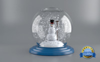 snow globe happy 3d model