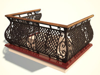 3ds max balcony