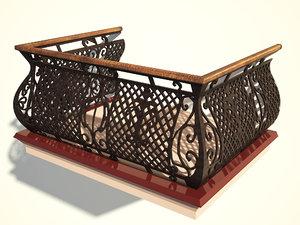 3ds max balcony