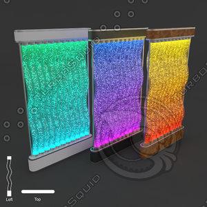 3 colors bubble fountain 3d model
