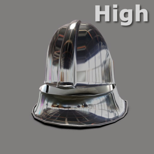 3d german sallet helmet