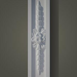 decorate facades ornament 3d model