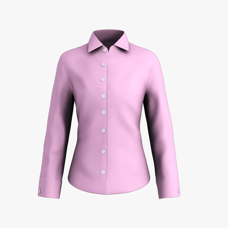 ladies shirt 3d obj