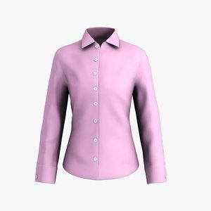 ladies shirt 3d obj