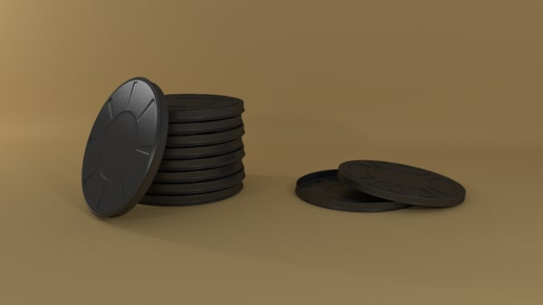 8mm film canister 3d model