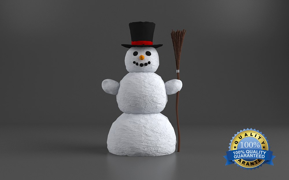 snowman snow happy 3d 3ds