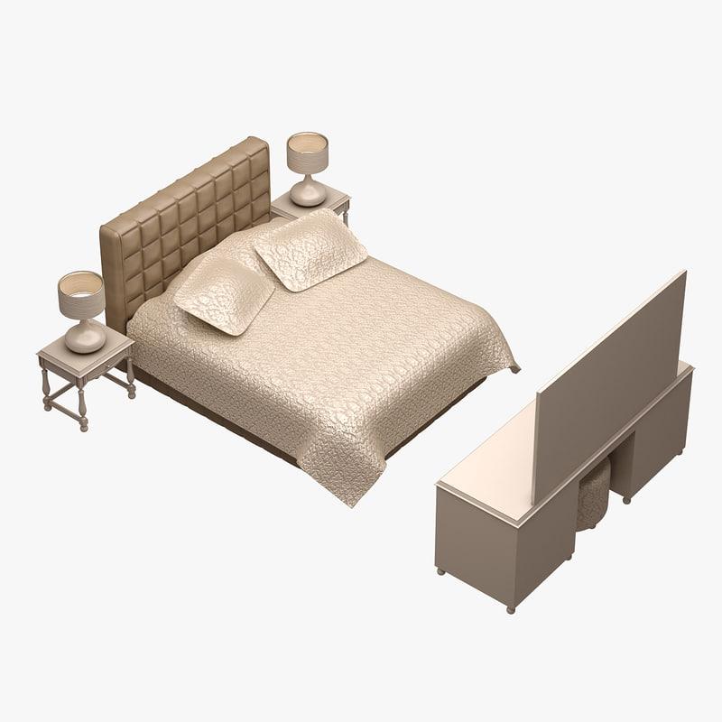 3d model of bed set