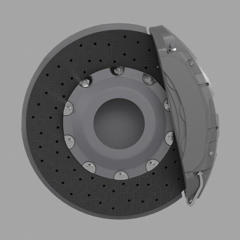 3d ceramic brake disk caliper