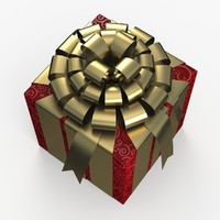 christmas gift present box 3d 3ds