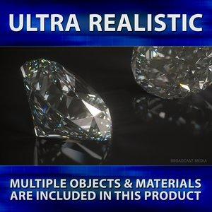 brilliant cut diamond 3d 3ds