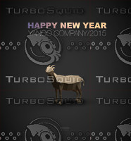Low poly goat - a symbol of the new year 2015