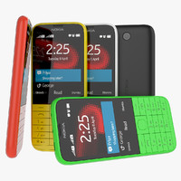 new nokia 225 black 3d 3ds