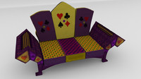 3d royal sofa