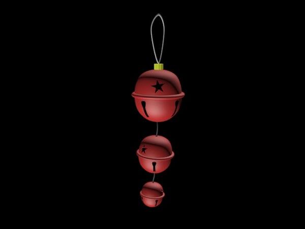 jingle bell ornament 3d max