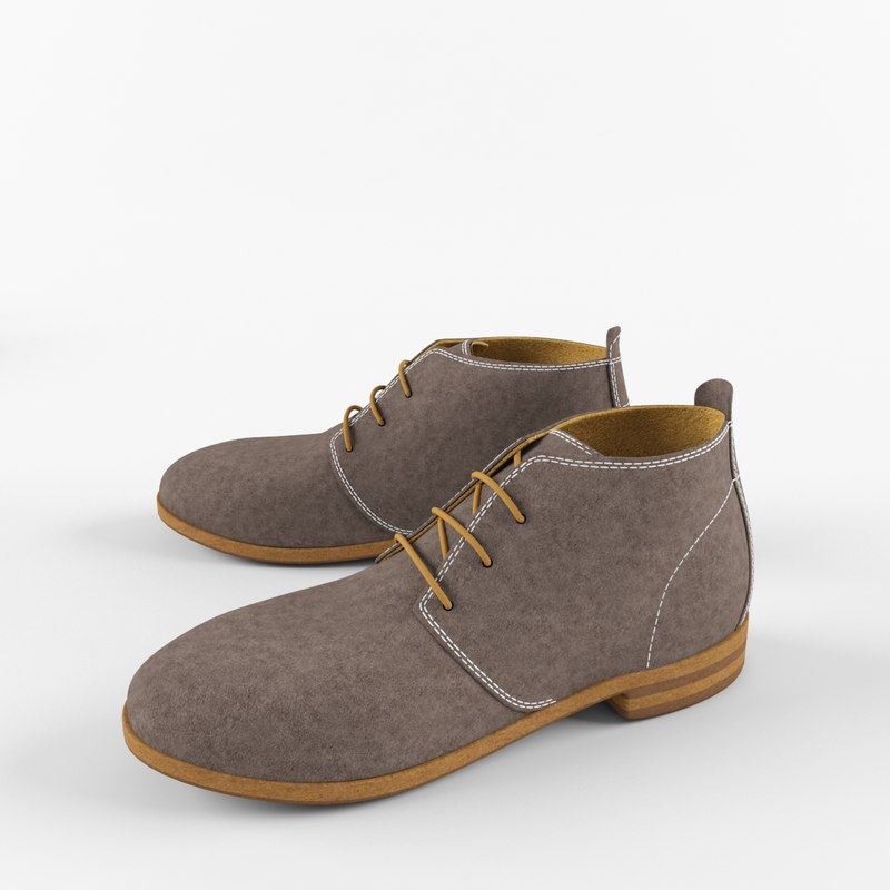 boot desert 3d model