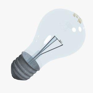 3d 3ds electric bulb