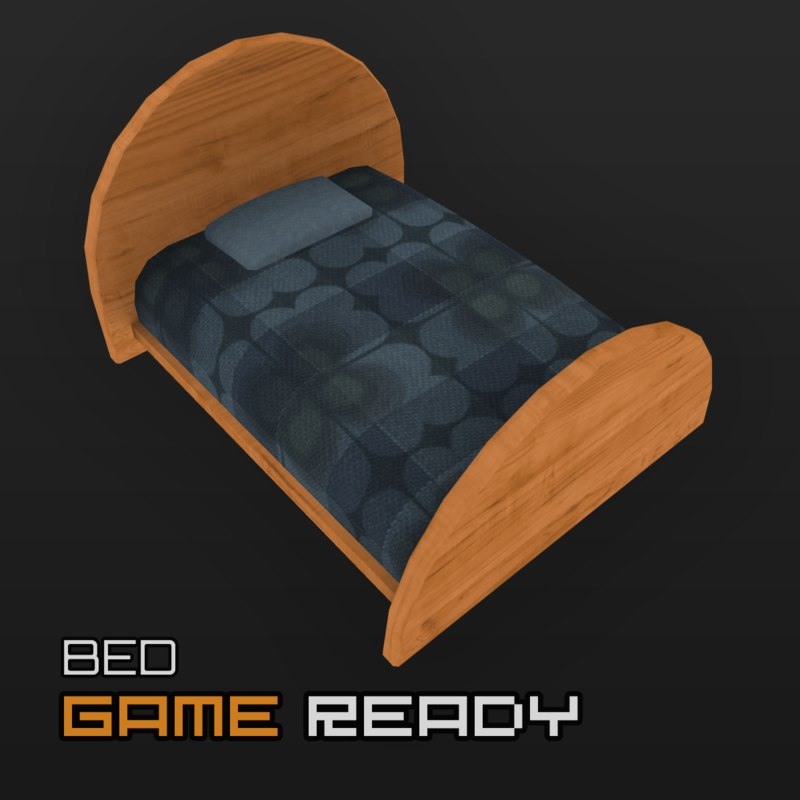3d ready bed model
