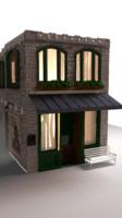 story brick building 3d model