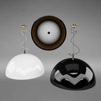 3d model of umbrella lamps