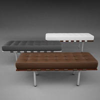mies van barcelona bench 3d model