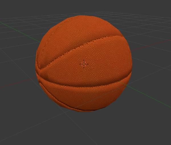 free basketball ball 3d model