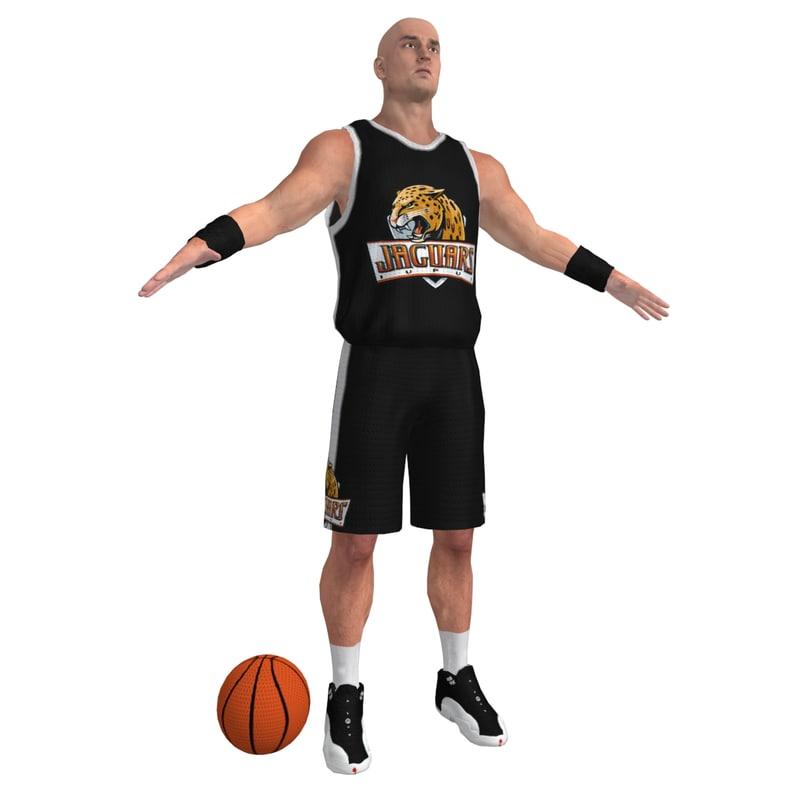 3d model basketball player ball