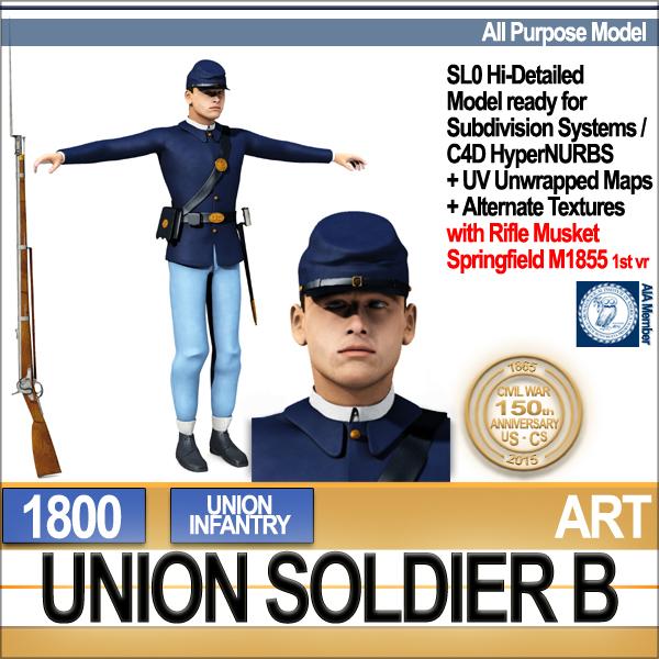 3d civil war union soldier