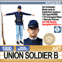 Civil War Union Soldier B Infantry