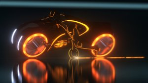 tron bike rider posed 3d max