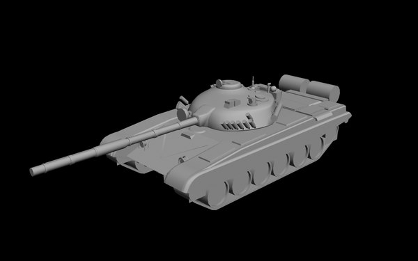 t72a tank 3d model