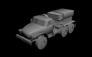 3d model grad truck