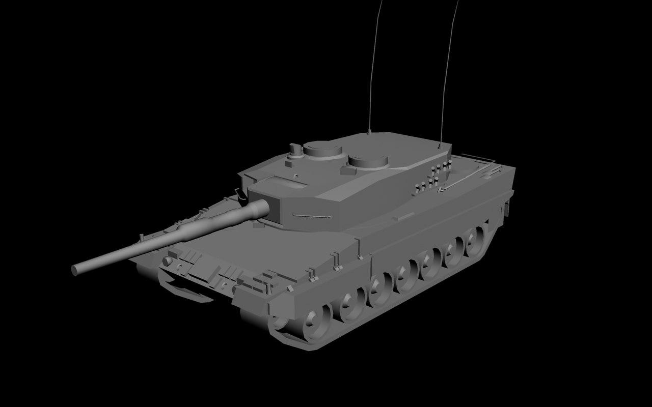 3d model leopard 2a4 tank