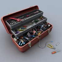3d toolbox kit works model