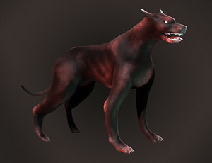 3ds max hell dog
