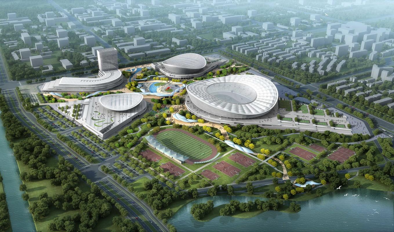 sports stadium 001 3d model