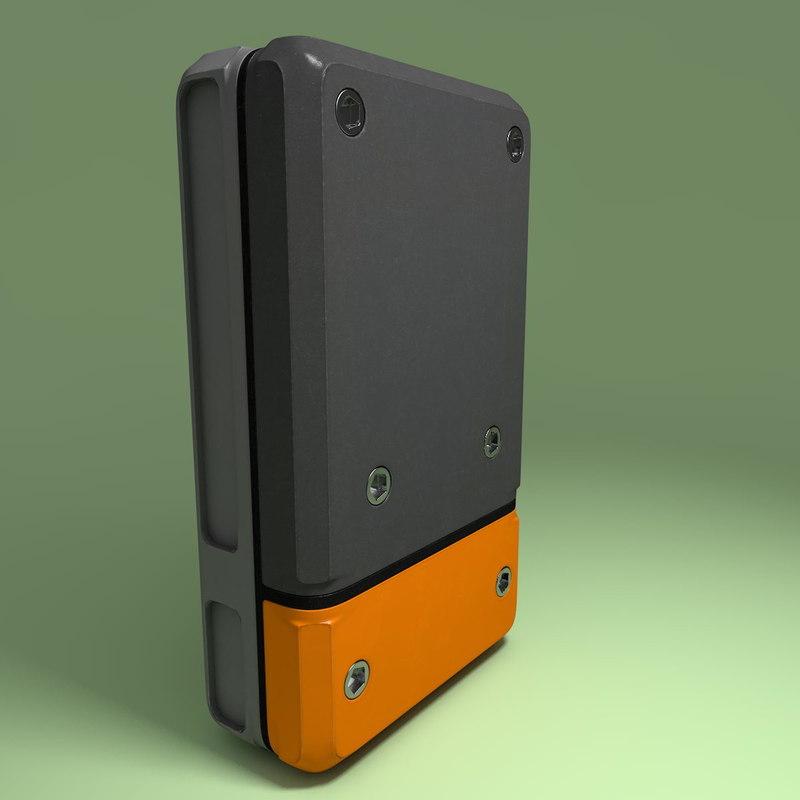 3d handheld device model