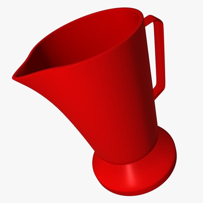 3d plastic electric kettle model